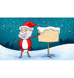 Santa claus and board vector