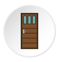 Door icon flat style vector image