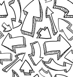 Doodle arrows pattern seamless vector