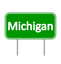 Michigangreen road sign vector image
