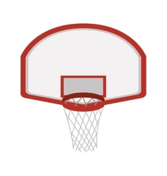 Silhouette colorful with rounded basketball hoop vector
