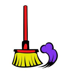 Brush for a floor icon icon cartoon vector