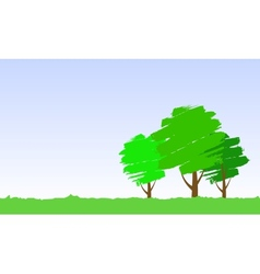 paint tree vector image