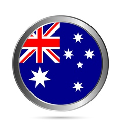 Australia flag button vector