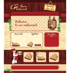 Web template for retro restaurant vector