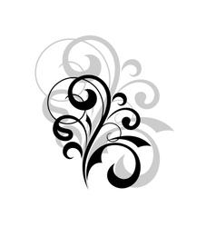 Ornate scrolling design element vector