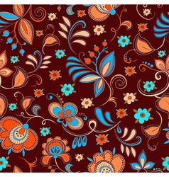 Floral theme seamless pattern vector