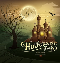 Happy halloween party castles vector