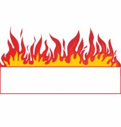 Fire banner background vector