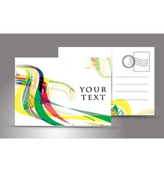 Empty postcard vector