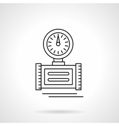 Pressure measuring flat thin line icon vector
