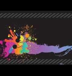 flour splatters vector image