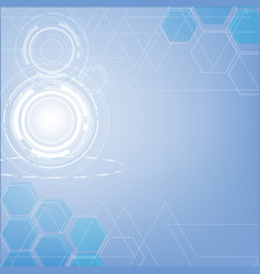 Abstract blue technology triangles and hexagon vector