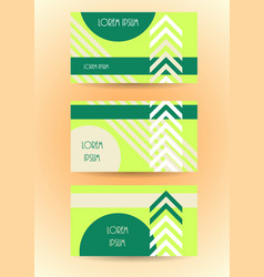 Business banner website template stylized card vector