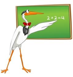 Cartoon character heron vector