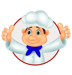 Chef cartoon giving thumb up vector