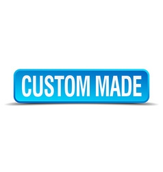 Custom made blue 3d realistic square isolated vector