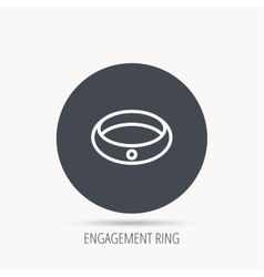 Diamond engagement ring icon Jewelery sign vector image