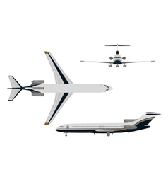 Drawing plane on a white background vector image vector image