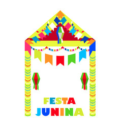 Festa junina brazil festival folklore holiday vector