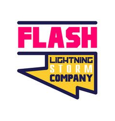 Flash lightning storm company logo template vector