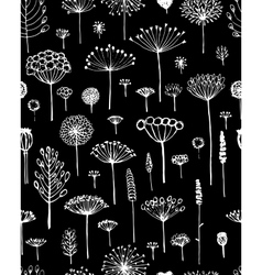 Floral seamless pattern sketch fro your design vector image vector image