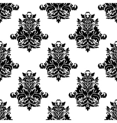 Foliate arabesque motif seamless pattern vector image