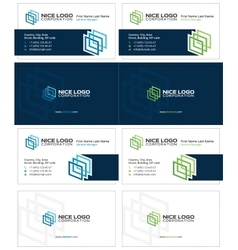 Gallery business card 1 vector