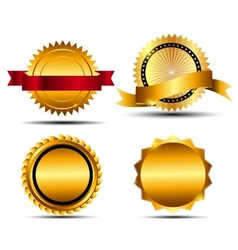 Gold sign label template vector