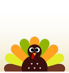 Happy Thanksgiving day card with cute Turkey vector image