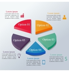 Isometric infographics options template vector