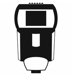 Lighting flash for camera icon simple style vector