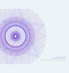 Lines spirograph background vector