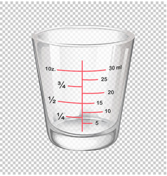 Measuring cup with scales vector
