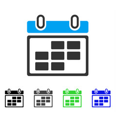 month calendar flat icon vector image vector image