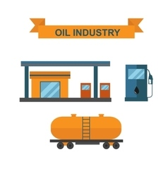 Oil and gasoline producing slots industry vector