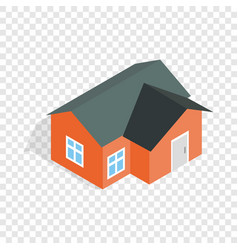 orange house isometric icon vector image