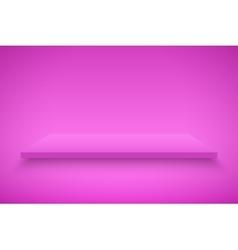 Pink presentation platform vector
