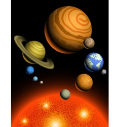 planets of solar system vector image vector image