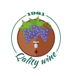 Quality wine 1981 for labels tags posters vector