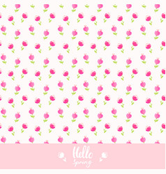 seamless background flowers vector image vector image