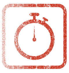 Stopwatch framed textured icon vector