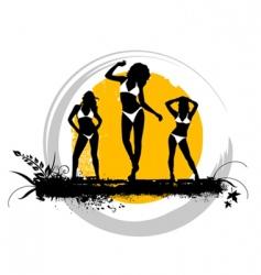 summer girls vector image vector image