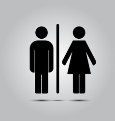 wc toilet icon vector image