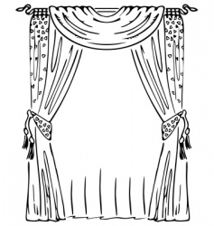 Window curtain vector
