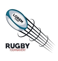 Rugby goal flying tournament design vector