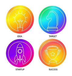 Business logo set vector