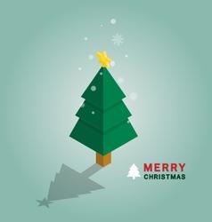 Merry Christmas tree isometric vector image