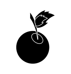 Silhouette sweet cherry fruit vector