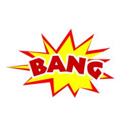 Bang icon pop art style vector